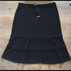 BCBG Paris professional black midi skirt